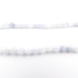 4032600 40 CM STRING OF 6 MM FACETED BEADS IN AQUAMARINE