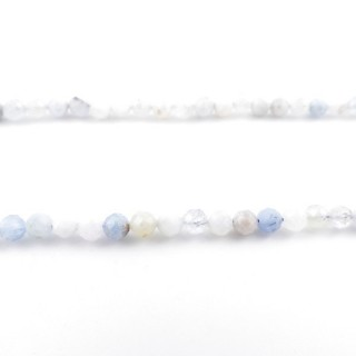 4032500 40 CM STRING OF 4 MM FACETED BEADS IN AQUAMARINE
