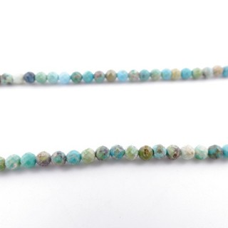 4267200 40 CM STRING OF 3.5 MM FACETED BEADS IN TURQUOISE