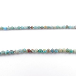 4266300 40 CM STRING OF 3 MM FACETED BEADS IN TURQUOISE