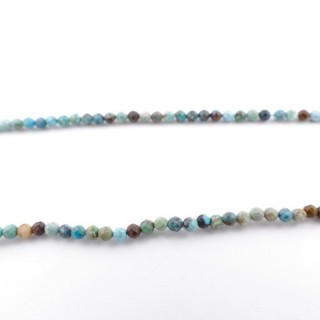 4266200 40 CM STRING OF 2 MM FACETED BEADS IN TURQUOISE