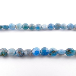 4147700 40 CM STRING OF 6 MM FACETED BEADS IN APATITE