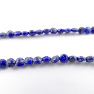 4212100 40 CM STRING OF 6 MM FACETED BEADS IN LAPIS LAZULI