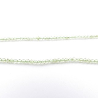 4226200 40 CM STRING OF 2 MM FACETED BEADS IN OLIVINE