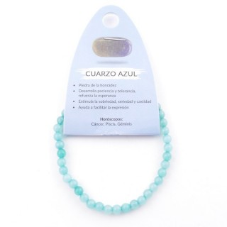 49233-54 ELASTIC 4 MM BRACELET IN NATURAL STONE BLUE QUARTZ