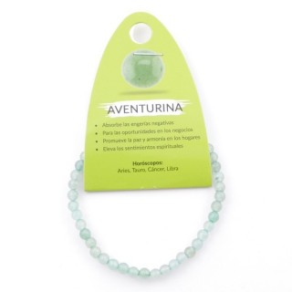 49234-12 ELASTIC 4 MM BRACELET IN NATURAL STONE GREEN AVENTURINE