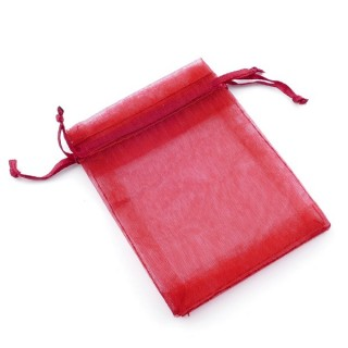 31794-03 PACK OF 100 7 X 9 CM ORGANZA BAGS IN MAROON