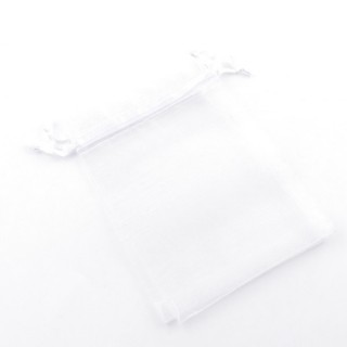 31795-02 PACK OF 100 9 X 12 CM ORGANZA BAGS IN WHITE
