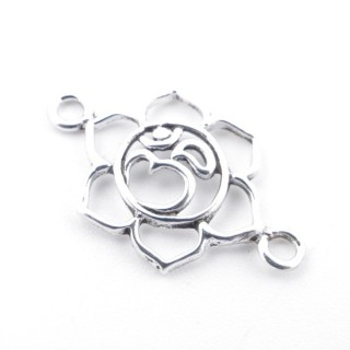 55480 STERLING SILVER FLOWER SHAPED 11 X 20 MM FINDING