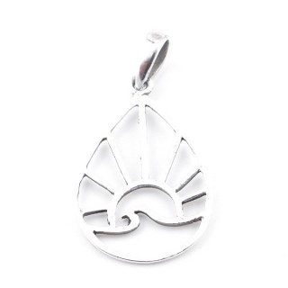 55477 STERLING SILVER DROP SHAPED 23 X 15 MM PENDANT