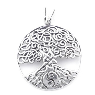 55483 STERLING SILVER 29 MM TREE OF LIFE PENDANT