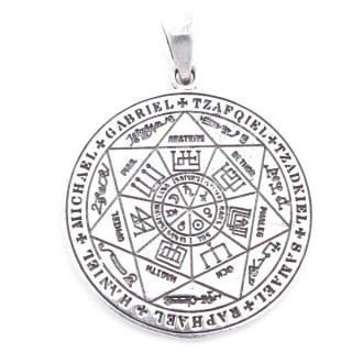 5022400 SILVER 34 MM PENDANT WITH SYMBOLS OF THE ARCH ANGELS