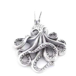 5022600 STERLING SILVER 31 X 30 MM OCTOPUS SHAPED PENDANT