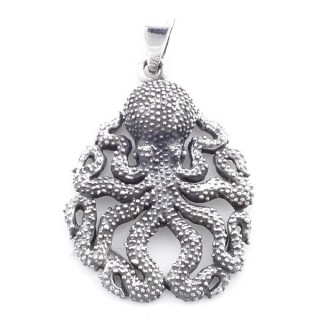 5022700 STERLING SILVER 36 X 26 MM OCTOPUS SHAPED PENDANT