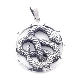 5023100 STERLING SILVER 925 PENDANT WITH SNAKE 27 MM