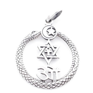 5023900 SILVER 28 MM PENDANT WITH SYMBOLS OF VARIOUS RELIGIONS