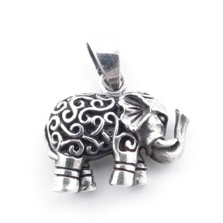 5024400 STERLING SILVER 16 X 18 MM ELEPHANT SHAPED PENDANT