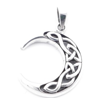 5024600 MOON SHAPED STERLING SILVER 26 MM PENDANT