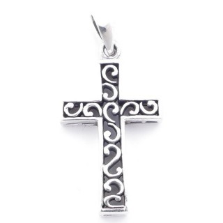 5025700 STERLING SILVER CROSS SHAPED 34 X 20 MM PENDANT