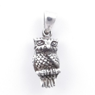 5026700 OWL SHAPED SOLID SILVER 19 X 8 MM PENDANT
