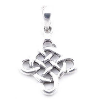 5027100 STERLING SILVER ENDLESS KNOT 24 X 20 MM PENDANT
