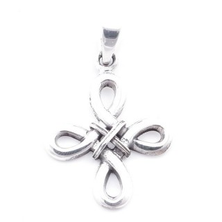 5027200 STERLING SILVER ENDLESS KNOT 29 X 22 MM PENDANT