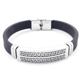 37401-03 ADJUSTABLE RUBBER AND STAINLESS STEEL BRACELET