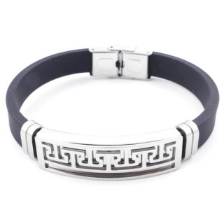 37401-04 ADJUSTABLE RUBBER AND STAINLESS STEEL BRACELET