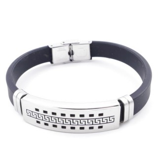 37401-06 ADJUSTABLE RUBBER AND STAINLESS STEEL BRACELET
