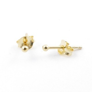 55498 GOLD PLATED SILVER 925 2 MM BALL EARRINGS