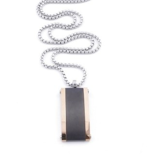 49635-02 STAINLESS STEEL 55 CM LONG NECKLACE WITH PENDANT