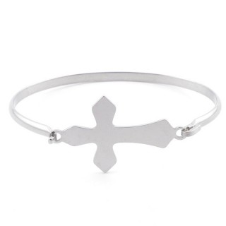 32311-55 STAINLESS STEEL BANGLE WITH CHARM