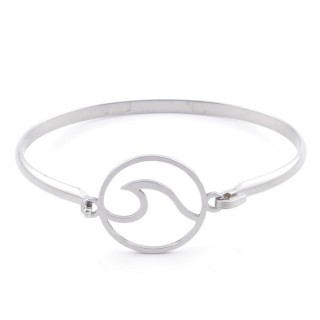 32311-58 STAINLESS STEEL BANGLE WITH CHARM