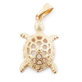 49563-02 TURTLE SHAPED STAINLESS STEEL 36 X 24 MM PENDANT