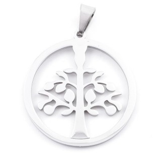 49542 STAINLESS STEEL 35 MM TREE OF LIFE SYMBOL PENDANT