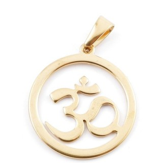 49556-09 STAINLESS STEEL PENDANT IN SHAPE OF OM 30 MM
