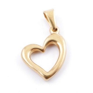 49556-05 STAINLESS STEEL PENDANT IN SHAPE OF HEART 20 X 16 MM