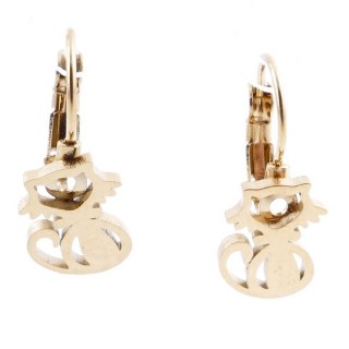 49585-04 STAINLESS STEEL CATALAN CLASP EARRINGS