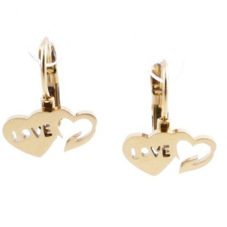 49585-11 STAINLESS STEEL CATALAN CLASP EARRINGS
