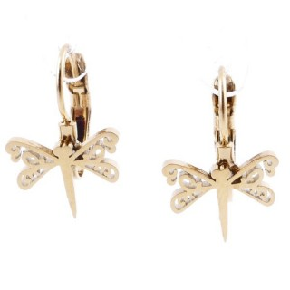 49585-13 STAINLESS STEEL CATALAN CLASP EARRINGS