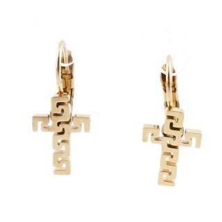 49585-14 STAINLESS STEEL CATALAN CLASP EARRINGS