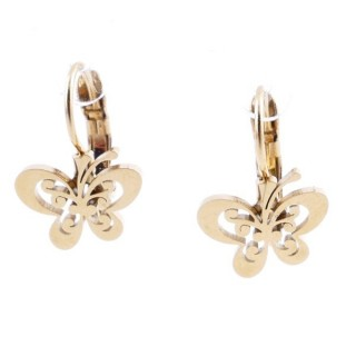 49585-15 STAINLESS STEEL CATALAN CLASP EARRINGS