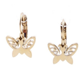49585-17 STAINLESS STEEL CATALAN CLASP EARRINGS