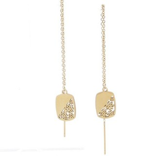 49620-02 STAINLESS STEEL EARRINGS MADE OF CHAIN AND CHARM