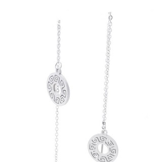 49621-01 STAINLESS STEEL EARRINGS MADE OF CHAIN AND CHARM