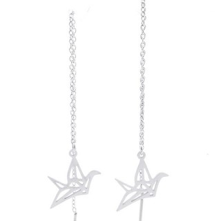 49621-06 STAINLESS STEEL EARRINGS MADE OF CHAIN AND CHARM