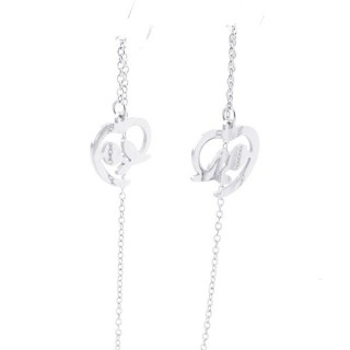 49621-10 STAINLESS STEEL EARRINGS MADE OF CHAIN AND CHARM