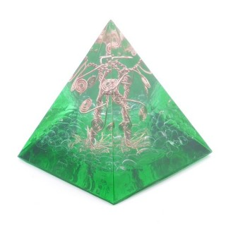 49513-02 ORGONITE PYRAMID WITH 5 X 5 CM BASE AND 5 CM HEIGHT