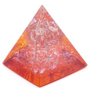 49513-03 ORGONITE PYRAMID WITH 5 X 5 CM BASE AND 5 CM HEIGHT
