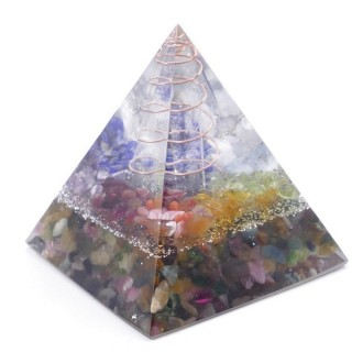 49513-05 ORGONITE PYRAMID WITH 5 X 5 CM BASE AND 5 CM HEIGHT